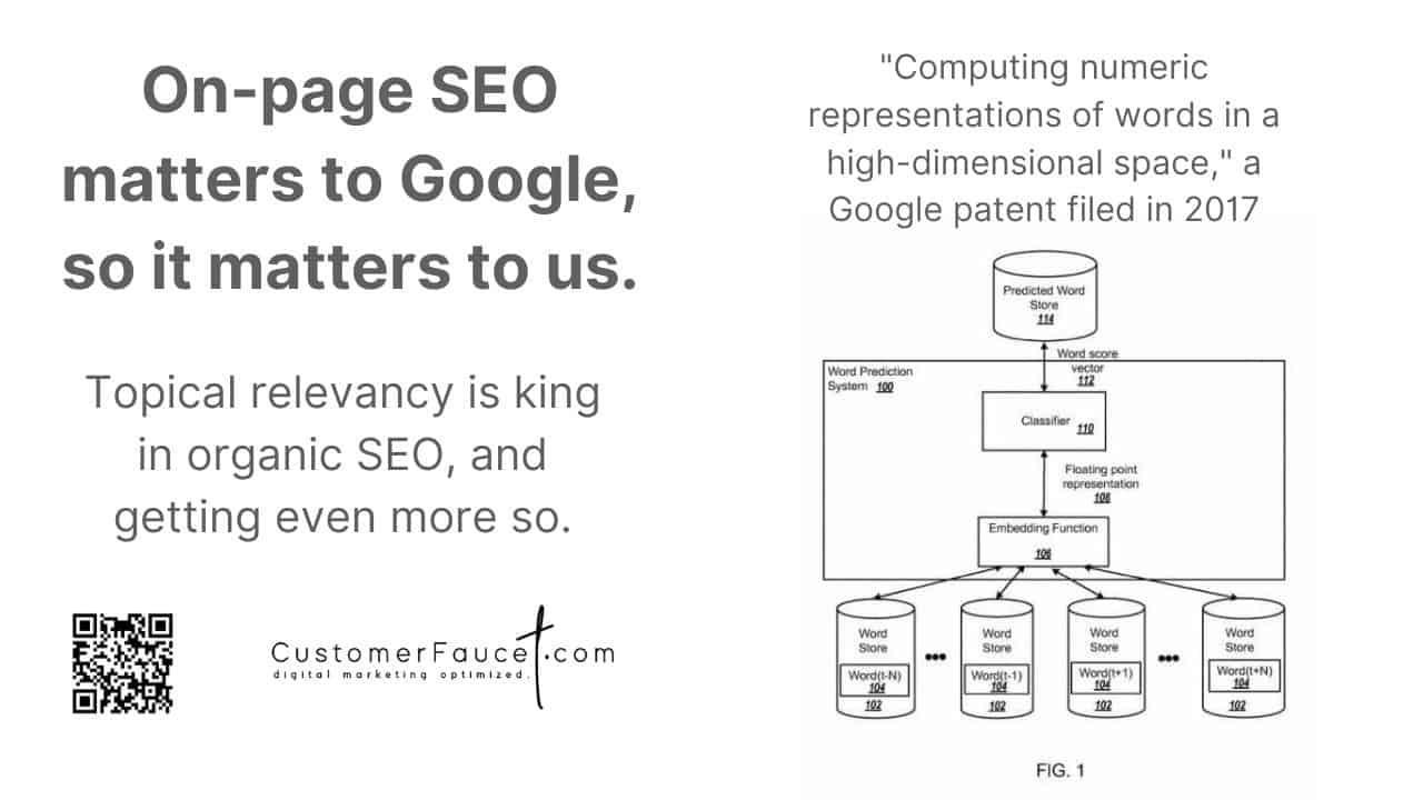 On-page SEO and Google Pagerank - CustomerFaucet.com